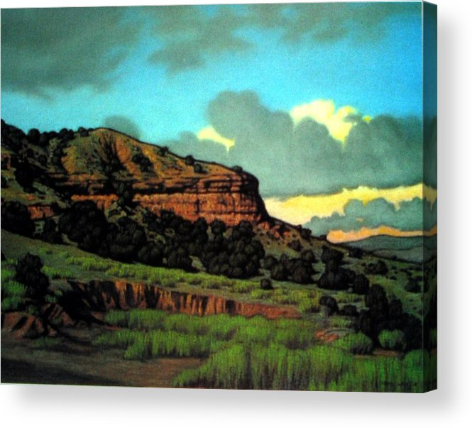 Landscape Acrylic Print featuring the painting Pojoaque by Kevin Lawrence Leveque
