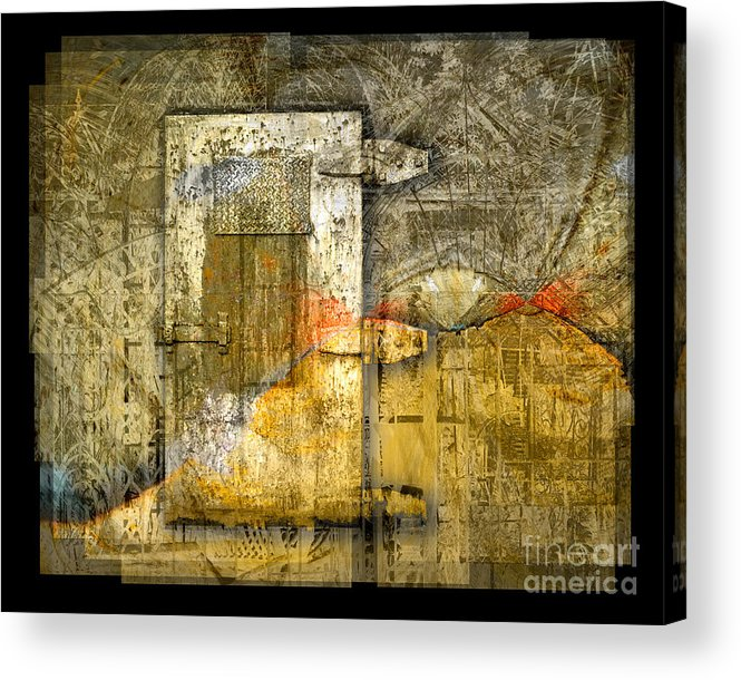 Door Acrylic Print featuring the digital art Presidio Door by Chuck Brittenham