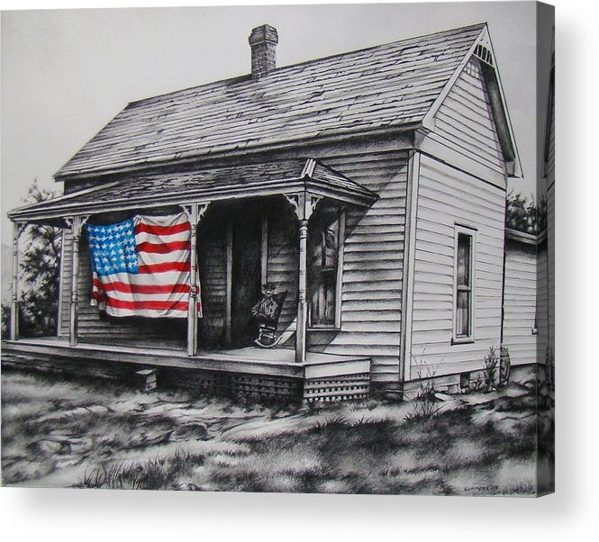 Flag Acrylic Print featuring the mixed media Pride by Michael Lee Summers