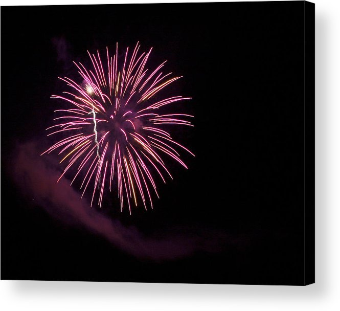 Fireworks Acrylic Print featuring the photograph Puple Passion by Su Ferguson - Don Burkheimer