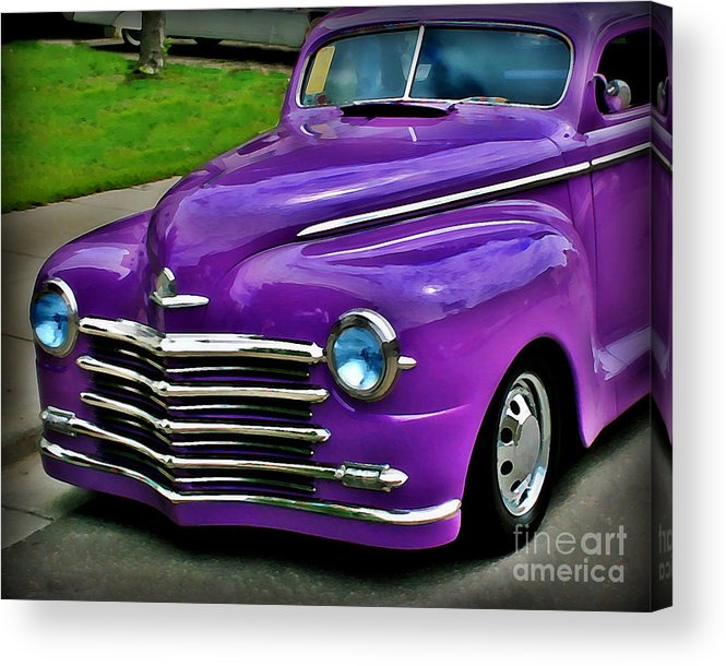 Car Acrylic Print featuring the photograph Purple Cruise by Perry Webster