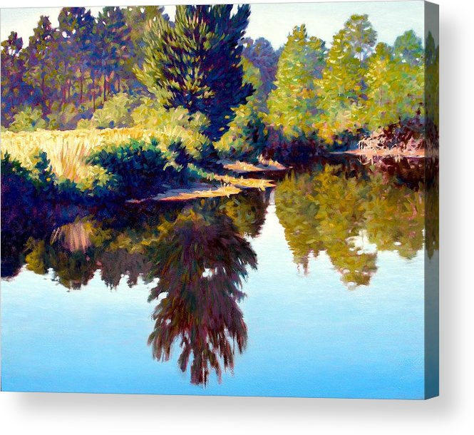 River Acrylic Print featuring the painting Quiet Pond by Kevin Lawrence Leveque