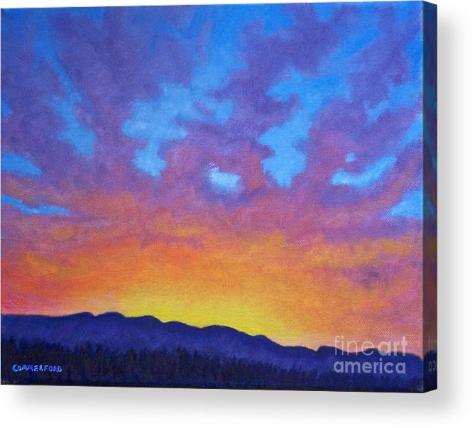 Landscape Acrylic Print featuring the painting Radiance by Brian Commerford