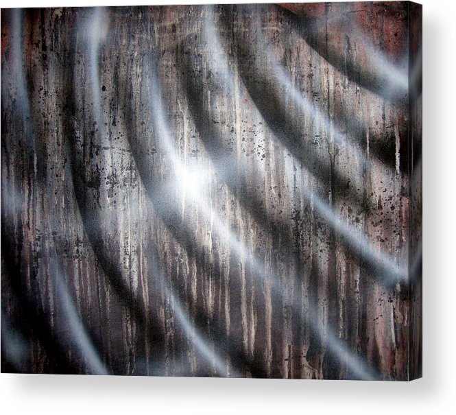 Rain Acrylic Print featuring the painting Raining by Leigh Odom