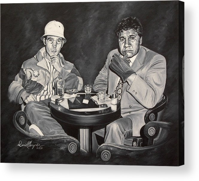 Hst Acrylic Print featuring the painting Raoul And Dr. Gonzo In Las Vegas by Daniel Bergren