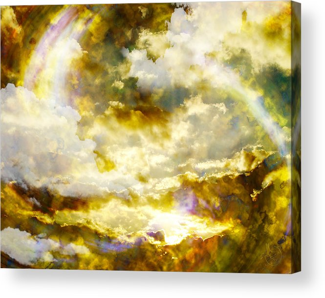Clouds Acrylic Print featuring the digital art Realm Of Angels by Gae Helton