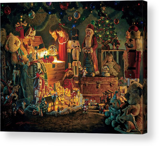 Santa Claus Acrylic Print featuring the painting Reason For The Season by Greg Olsen