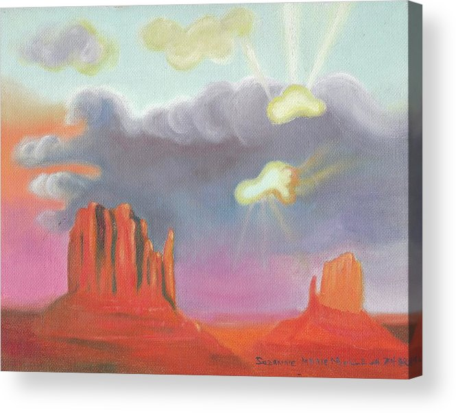 Red Acrylic Print featuring the painting Red Rock Country by Suzanne Marie Leclair