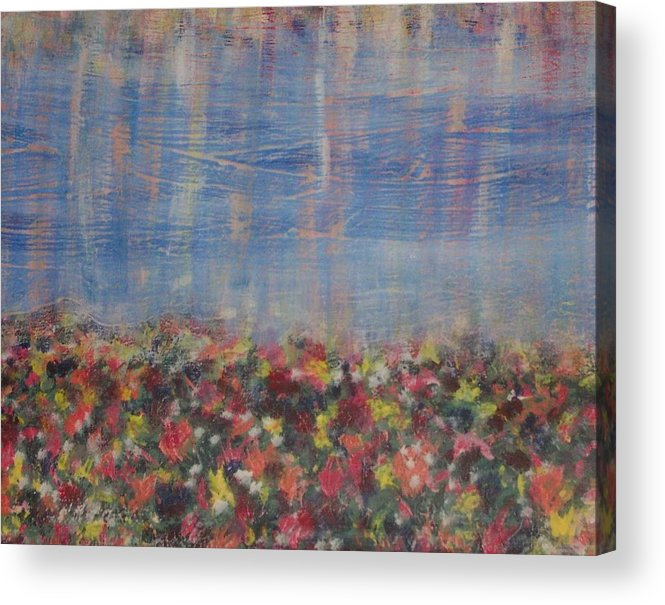 Floral Acrylic Print featuring the painting Reflections by Jennifer Hernandez