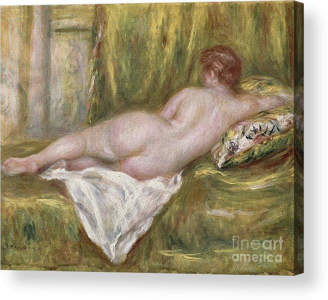 Renoir Acrylic Print featuring the painting Rest After The Bath by Pierre Auguste Renoir