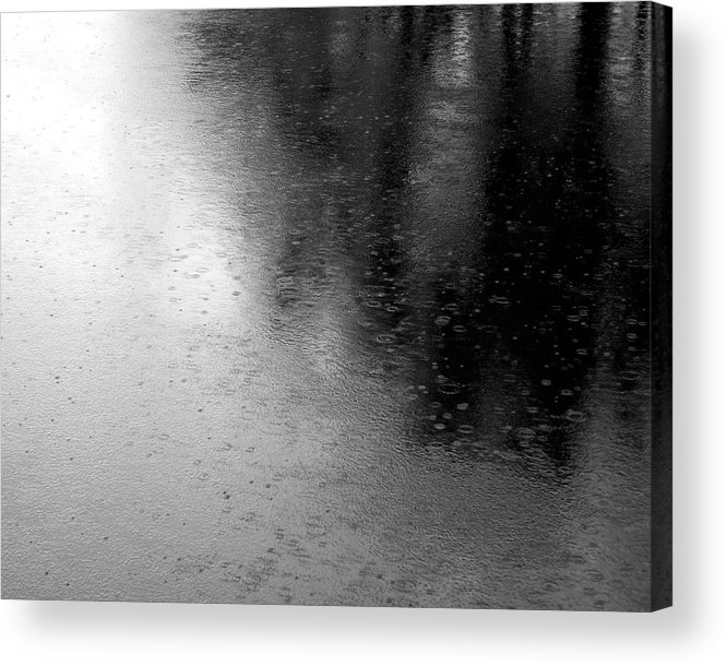 River Acrylic Print featuring the photograph River Rain Naperville Illinois by Michael Bessler
