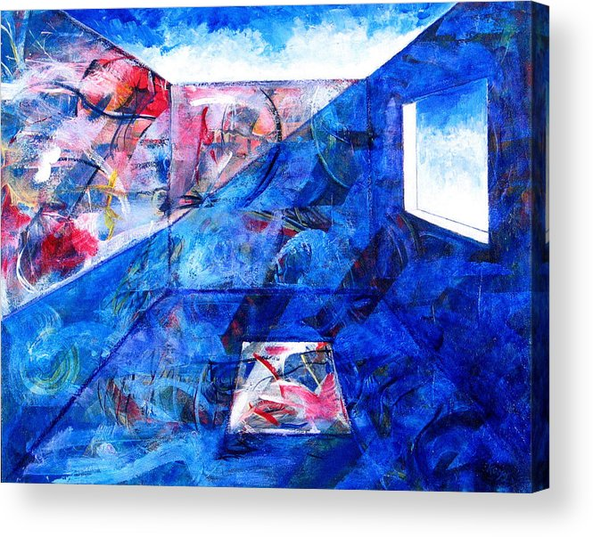 Room Acrylic Print featuring the painting Room With A View by Rollin Kocsis