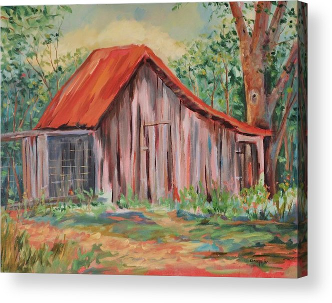 Chicken Coops Acrylic Print featuring the painting Russel Crow by Ginger Concepcion