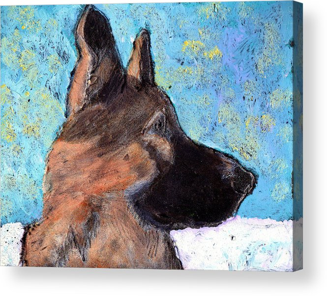 Dog Acrylic Print featuring the painting Sarge II by Wayne Potrafka