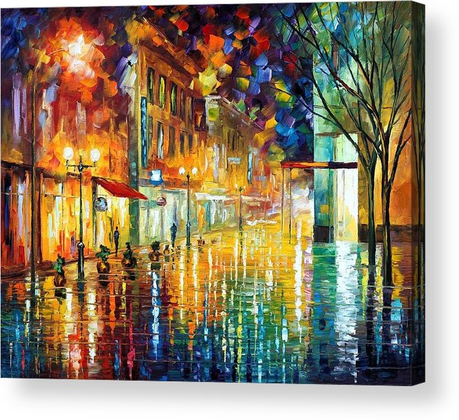 Afremov Acrylic Print featuring the painting Scent Of Rain by Leonid Afremov