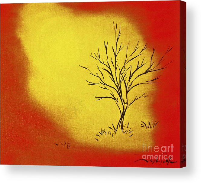 Serenity Acrylic Print featuring the painting Serenity by Joseph Palotas