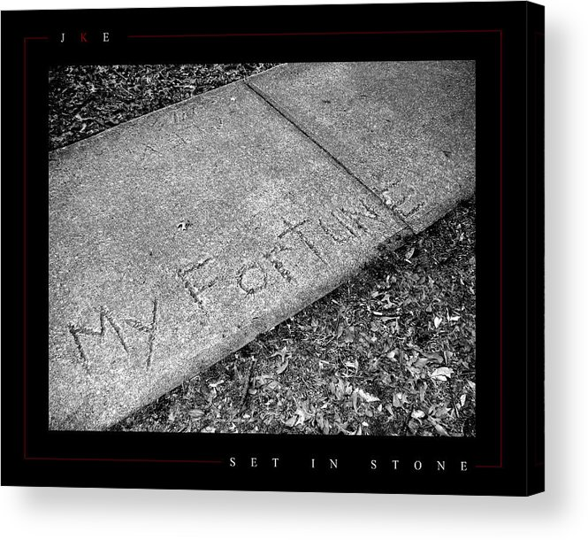 Sidewalk Acrylic Print featuring the photograph Set In Stone by Jonathan Ellis Keys