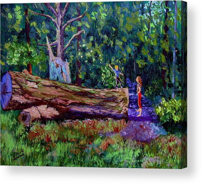 Woods Acrylic Print featuring the painting Sewp 6 21 by Stan Hamilton