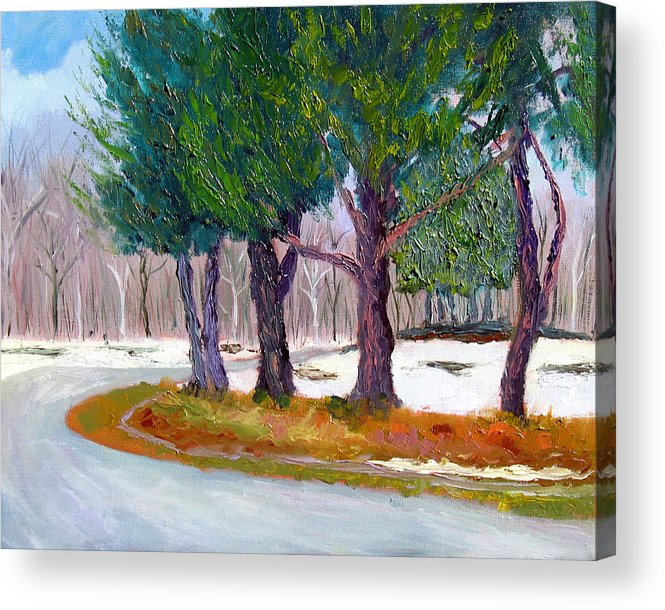 Landscape Acrylic Print featuring the painting Sewp Spring Thaw by Stan Hamilton