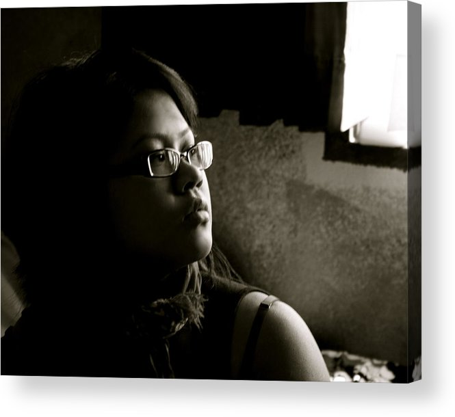 Portrait Acrylic Print featuring the photograph Shadow by Aimee Galicia Torres