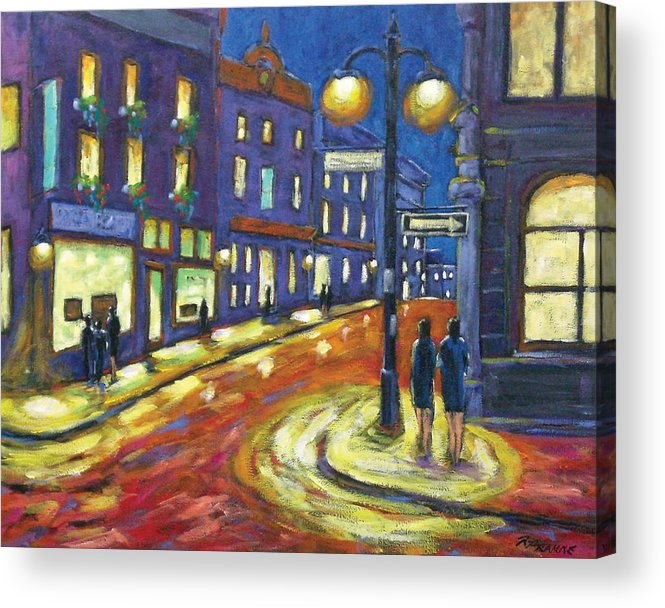 Night Acrylic Print featuring the painting Shimmering Night by Richard T Pranke