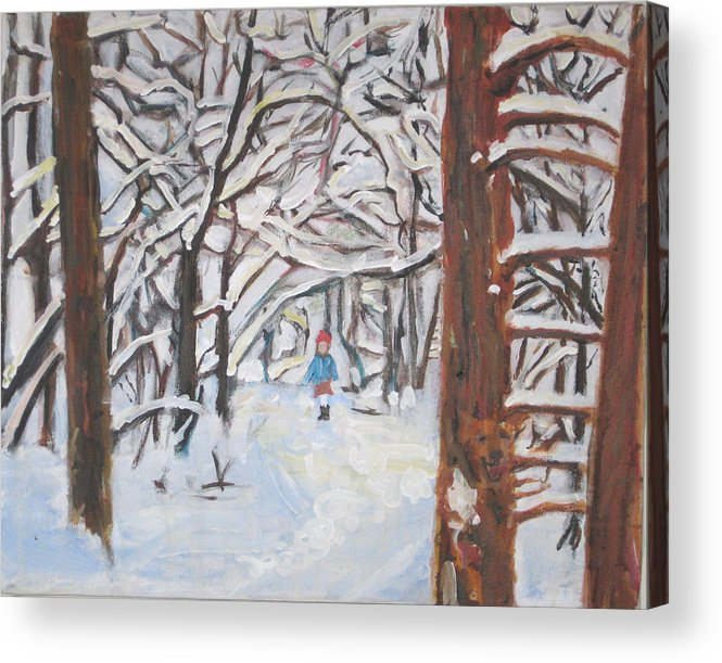 Snow Acrylic Print featuring the painting Snow by Alicia Kroll