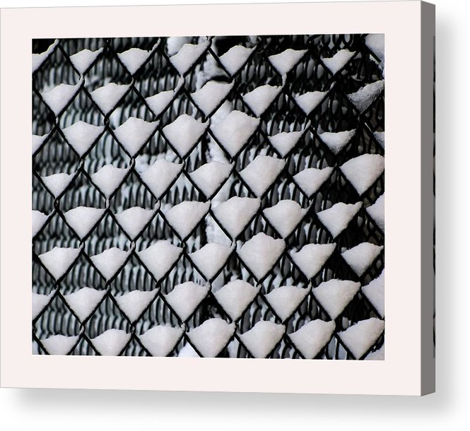 Winter Scene Acrylic Print featuring the photograph Snow Triangles After Storm by Rene Crystal