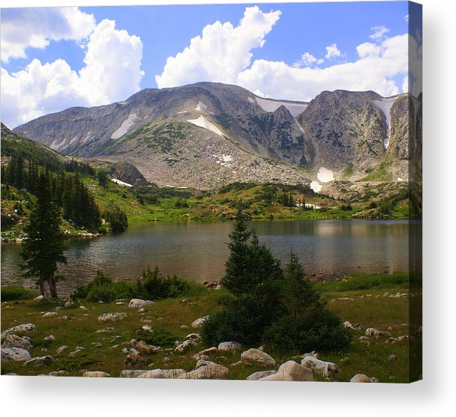 Mountain Acrylic Print featuring the photograph Snowy Mountain Loop 9 by Marty Koch