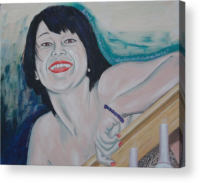 Kevin Callahan Acrylic Print featuring the painting Something On Her Mind by Kevin Callahan