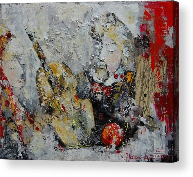 Abstract Acrylic Print featuring the painting Sound Of Love by Sari Haapaniemi