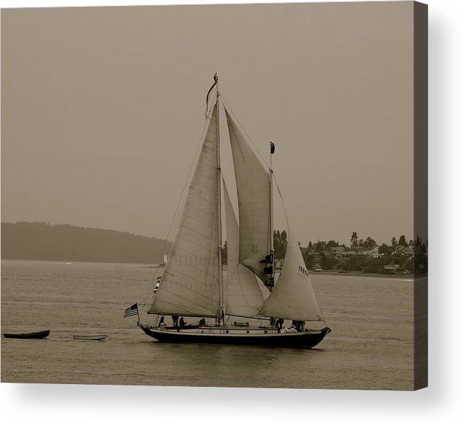 Tall Ships Acrylic Print featuring the photograph S.s.s. Rejoice by Sonja Anderson