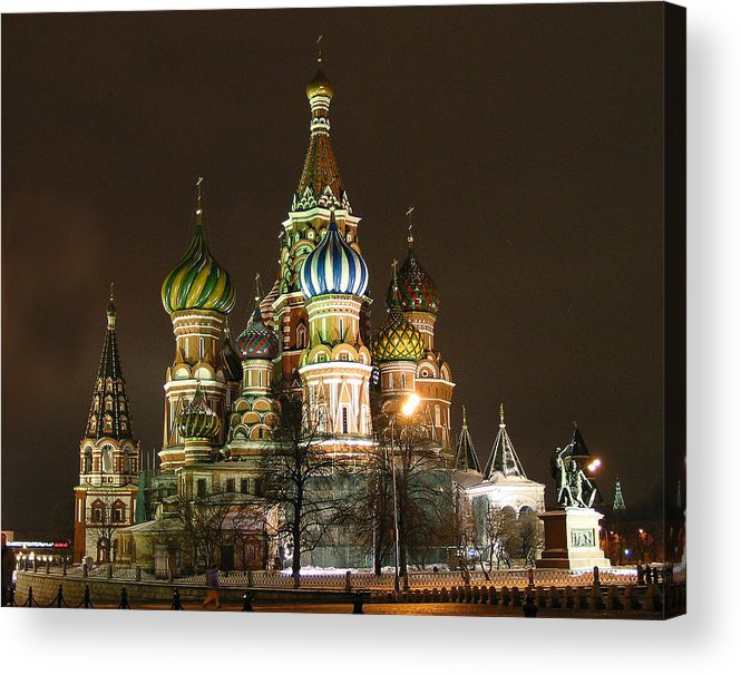 St Basil Acrylic Print featuring the photograph St Basil Basilica by Gene Sizemore