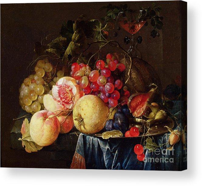 Still Acrylic Print featuring the painting Still Life by Cornelis de Heem