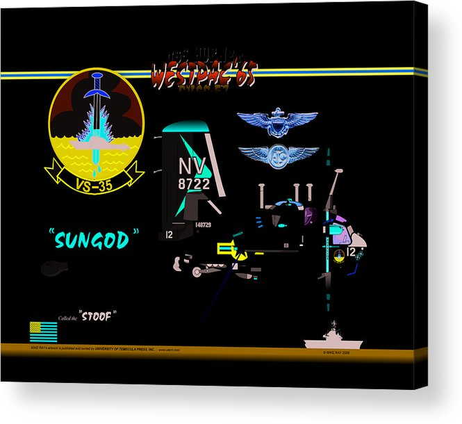 Aviation Acrylic Print featuring the digital art Stoof Caricature A by Mike Ray