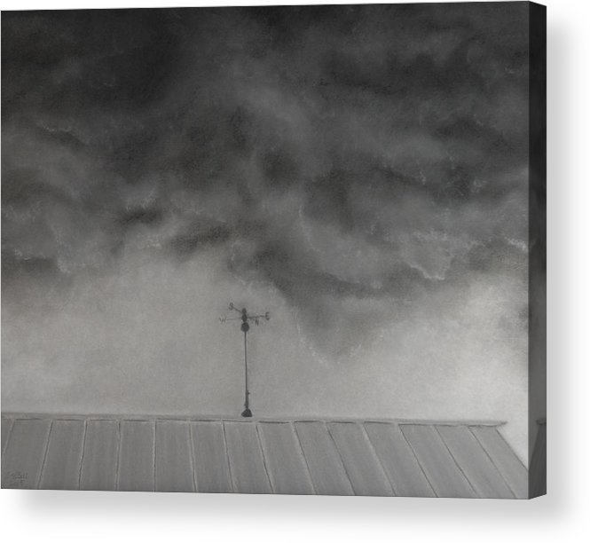 Sky Acrylic Print featuring the painting Stormy Sky by Lisa Bell