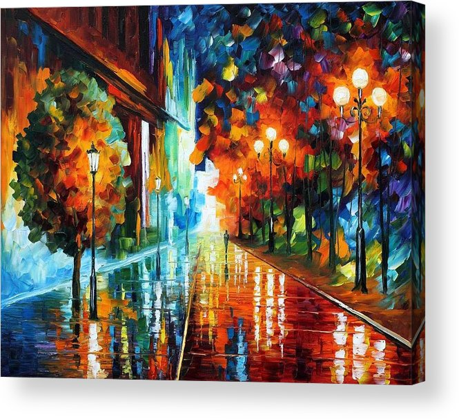 Afremov Acrylic Print featuring the painting Street Of Hope by Leonid Afremov