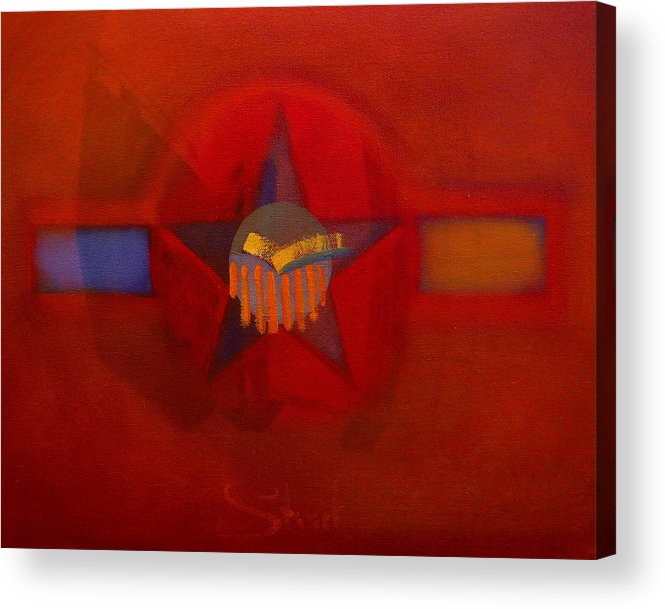 Warm Acrylic Print featuring the painting Sub Decal by Charles Stuart