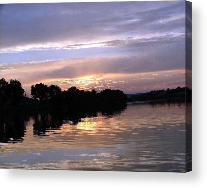 Snake River Acrylic Print featuring the photograph Sunset On The Snake by Dawn Blair