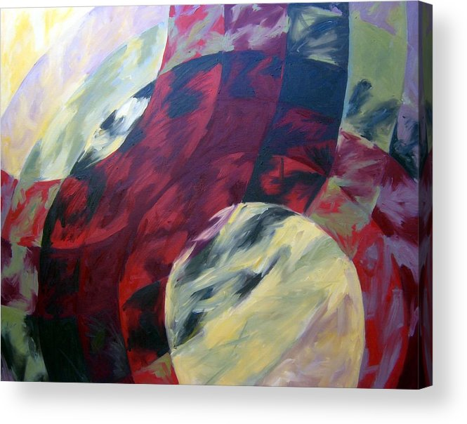 Abstract Acrylic Print featuring the painting Sunshine Spectrum by Menucha Citron
