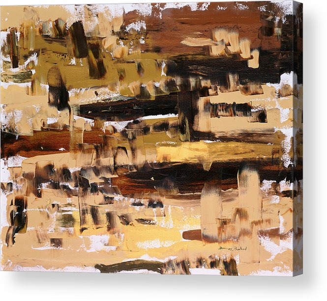 Abstract Acrylic Print featuring the painting Superpositions 2 by Dominique Boutaud