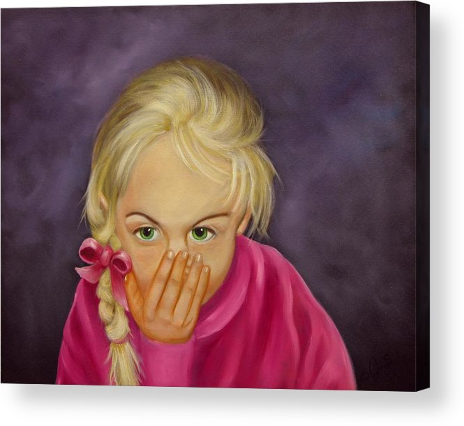 Portrait Acrylic Print featuring the painting Surprise by Joni McPherson