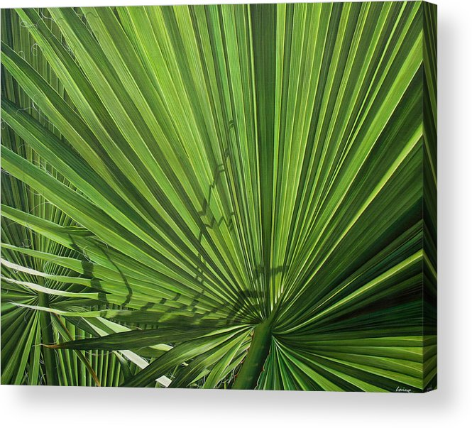 Tropical Acrylic Print featuring the painting Susurros De Luz by Laine Garrido