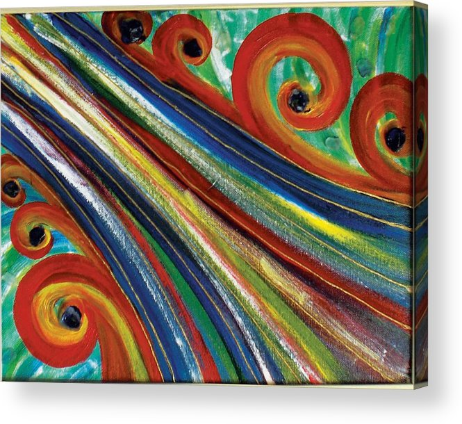 Swirls Acrylic Print featuring the painting Swirls by Nancy Sisco