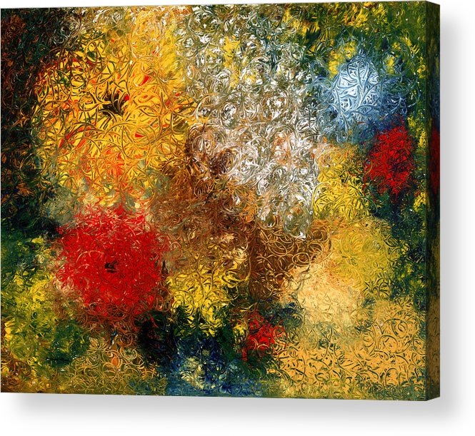 Abstract Acrylic Print featuring the painting Symphonie De Fleurs by Dominique Boutaud