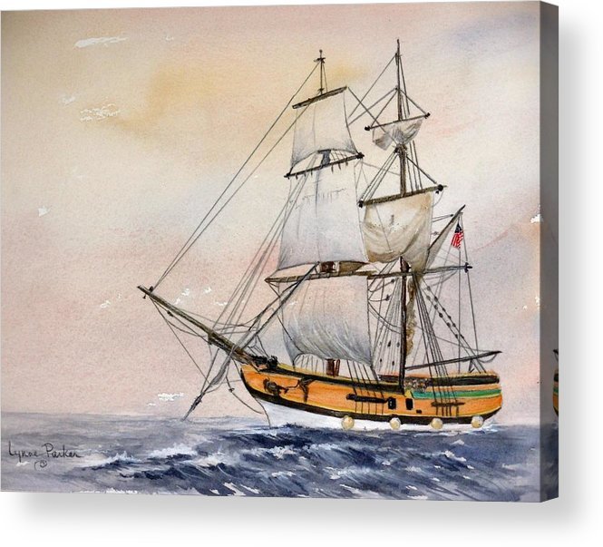 Lady Washington Acrylic Print featuring the painting Tall Masted Ship by Lynne Parker