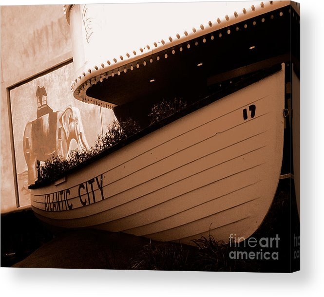 Boats Acrylic Print featuring the photograph The Boardwalk by Heather Weikel