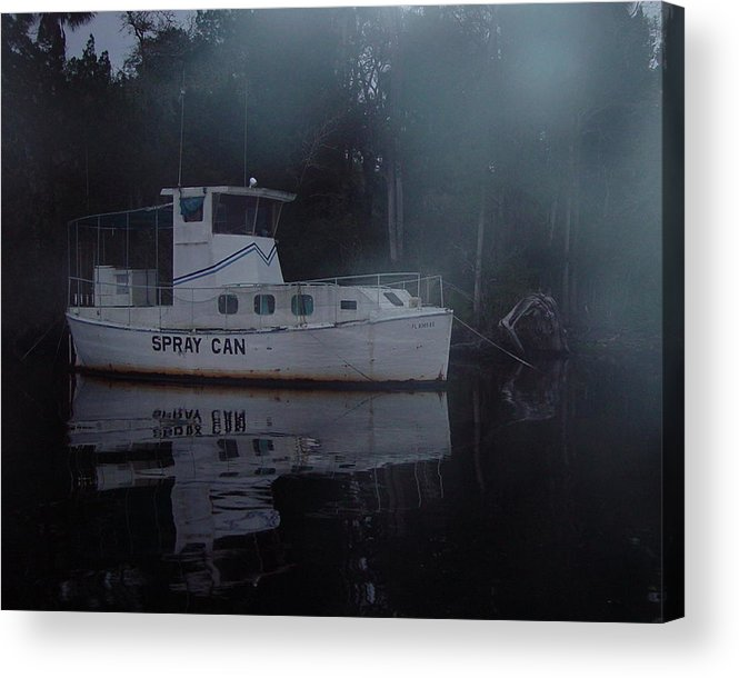 Boat Acrylic Print featuring the painting The Ghost Ship by Debbie May