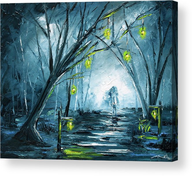 Headless Acrylic Print featuring the painting The Hollow Road by Nelson Ruger