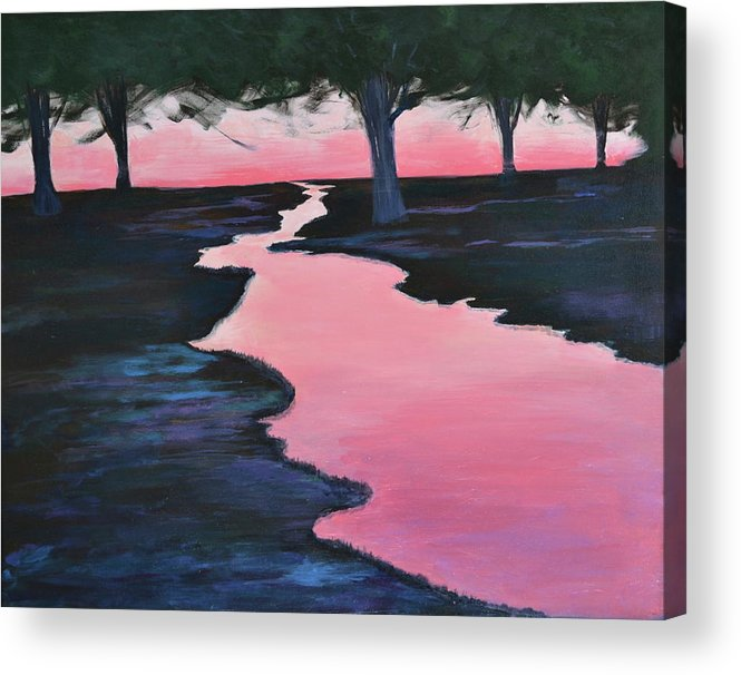 Landscape Acrylic Print featuring the painting The Journey by Sheryl Sutherland