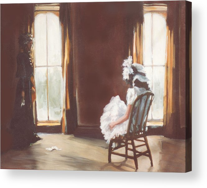 Victorian Acrylic Print featuring the painting The Letter by Linda Crockett